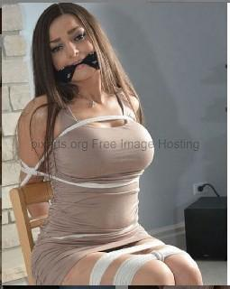 Sexy girl captured and tied